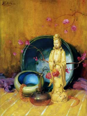 lukits asian guanyin painting