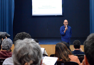 Secretário de Meio Ambiente, André de Mello, pontua que a reunião do Comdema é o marco do início do trabalho de confecção do Plano de Gestão Integrada de Resíduos Sólidos