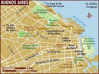 Buenos Aires Mapa de Región