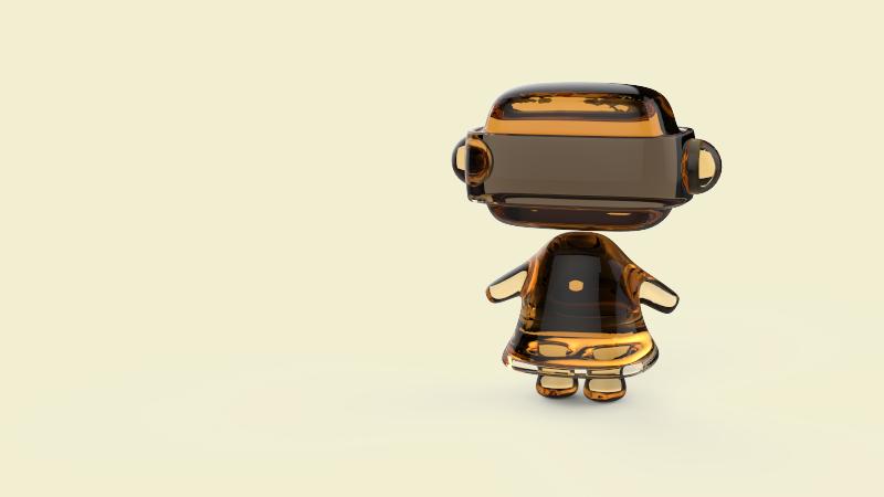 3d studio max, 3d, robot, cute robot,