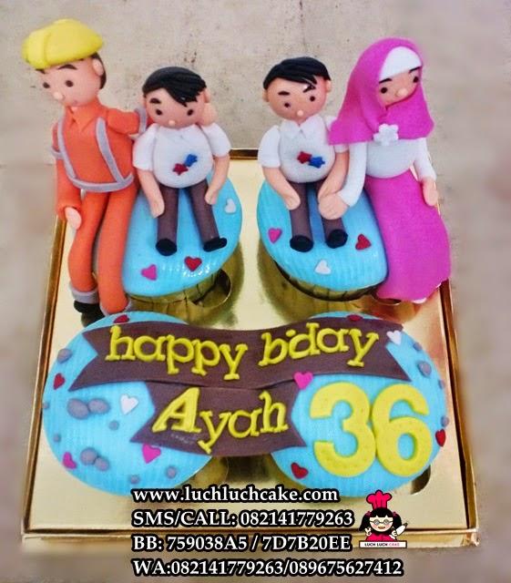 Cupcake Tema Kontraktor dan Keluarga Daerah Surabaya - Sidoarjo