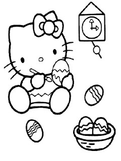 Hello Kitty Egg Coloring Sheet