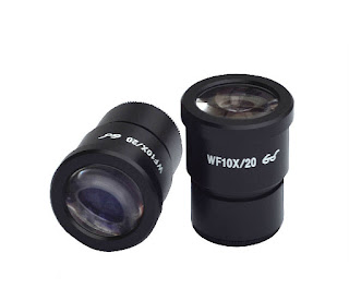 2 pcs WF10X/20 High Eye-point EYEPIECES For Stereo Microscope 30mm tube