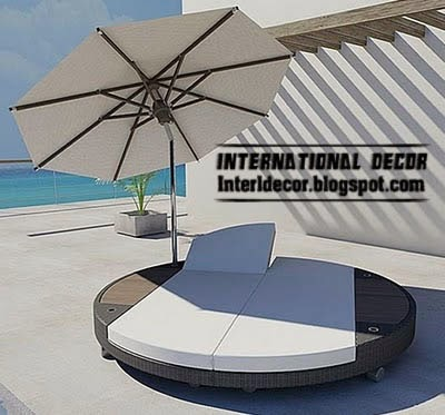 double lounge chair, modern outdoor furniture