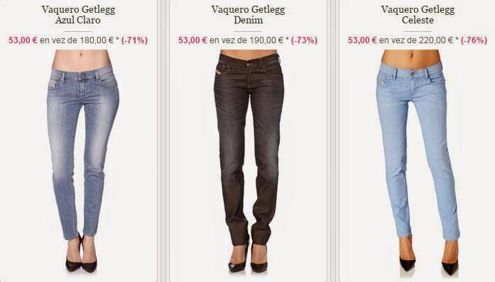 Tres modelos de pantalones vaqueros slim por 53 euros.