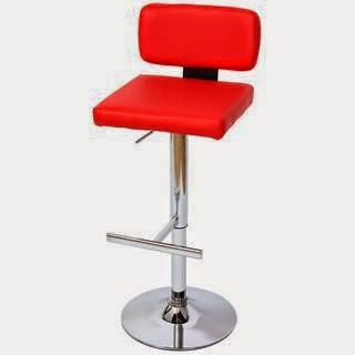 Taburete de diseño VIGO, con asiento en polipiel