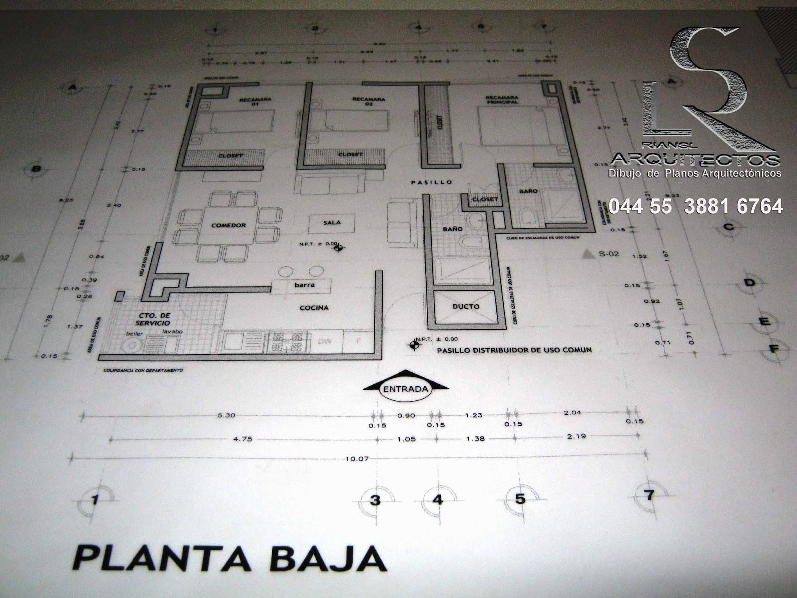 Arq rigoberto s nchez especialista en dibujo de planos for Planos de casa habitacion