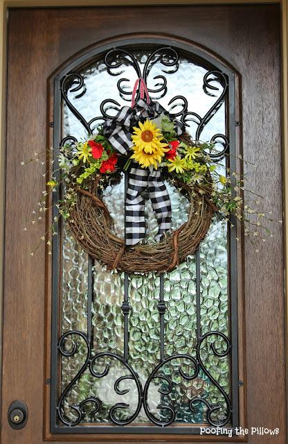 sunflower wreath, summer wreath