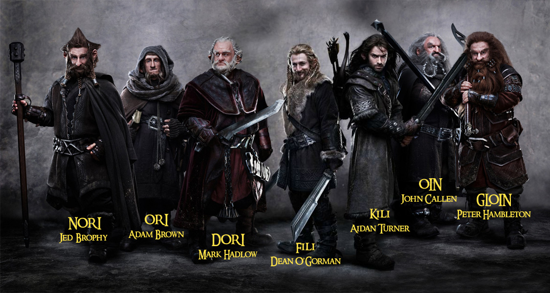 7 dwarves the hobbit ... >^o^