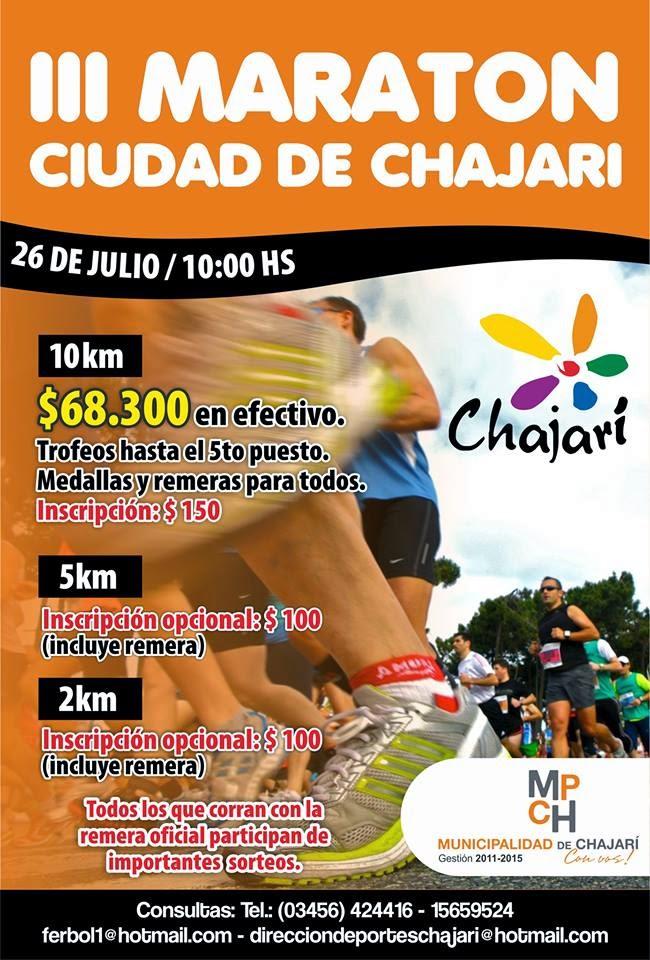 3º MARATON CIUDAD DE CHAJARI