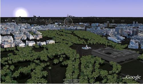 Royal wedding in Google Earth