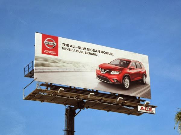 Nissan Rogue never a dull errand billboard