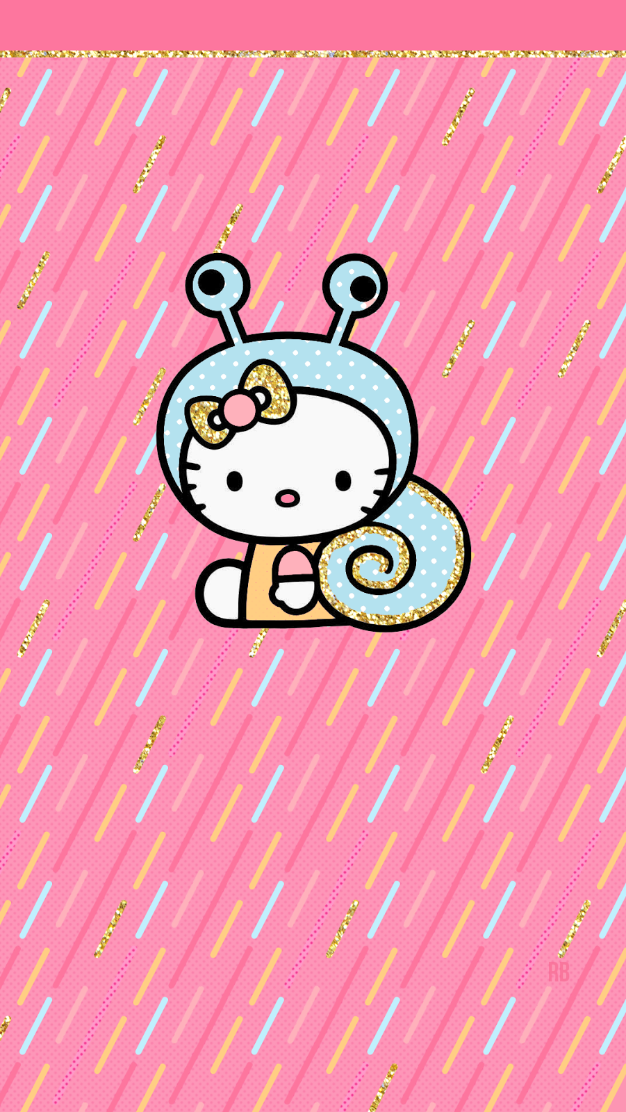Beautiful Wallpaper Hello Kitty Glitter - Kitty_Snail  You Should Have_772450.png