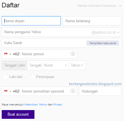 cara membuat email yahoo terbaru dan lengkap