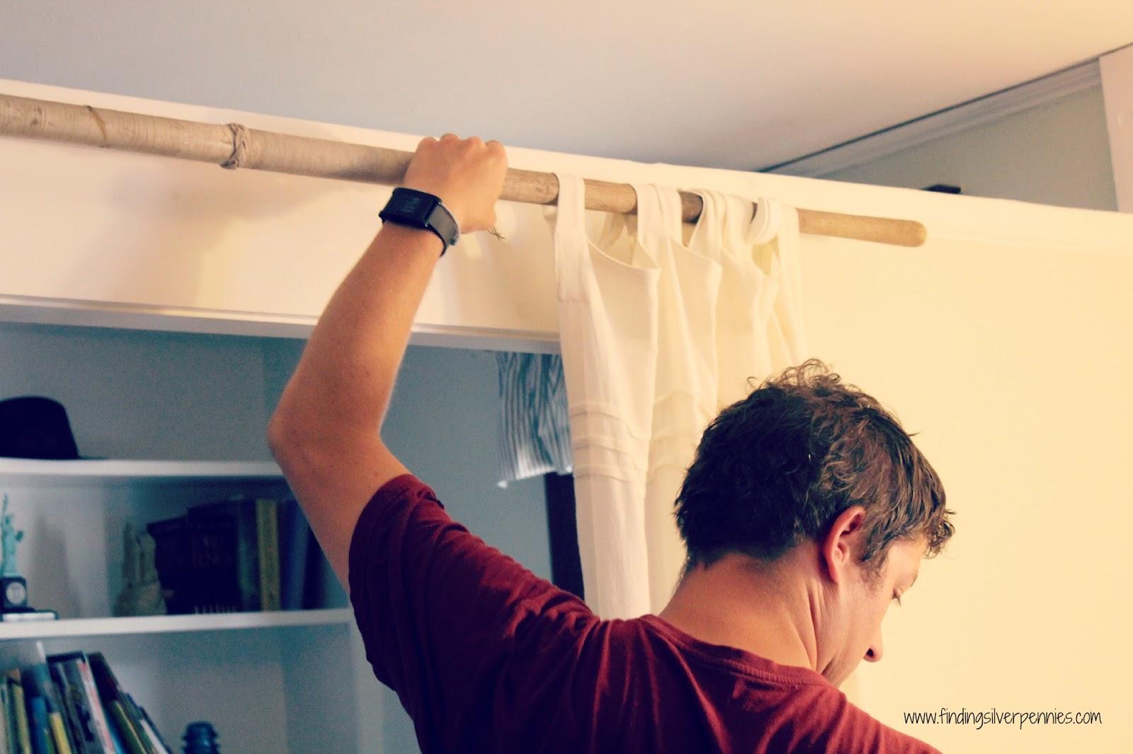 How to hang curtain rods how tos diy - Diy Curtain Rod