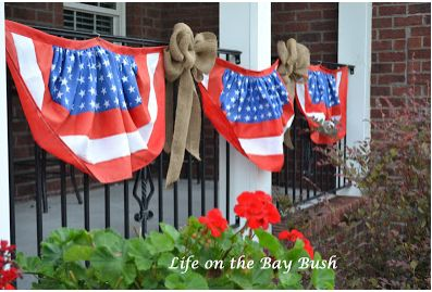 4th of July Bunting and Burlap