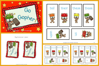 Go Gopher Dolch Sight Word Game Go Fish