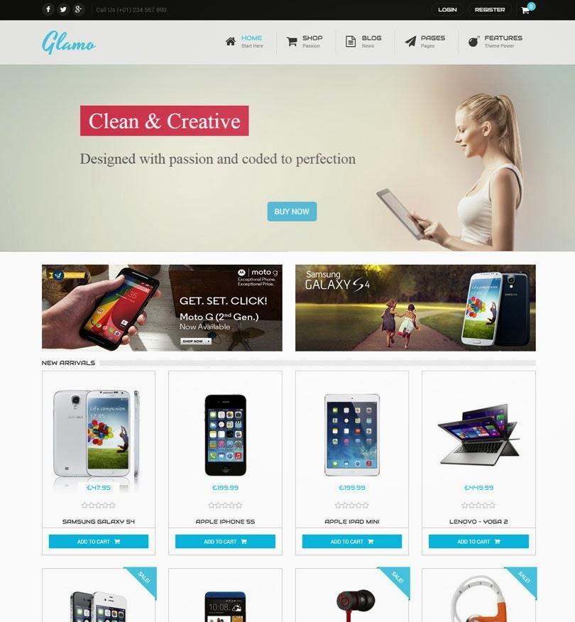 Glamo – Responsive WordPress Ecommerce Theme