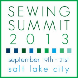 logo for Sewing Summit in Salt Lake City with dates of 2013 convention