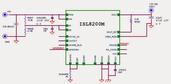 10A Power Supply IC with ISL8200M