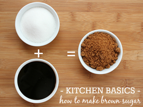 love, laurie: kitchen basics: how to make brown sugar