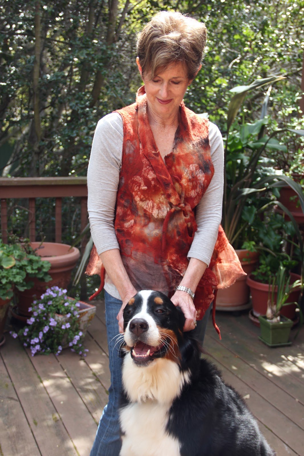 Studio 907: Nuno Felted Eco Dyed Vest