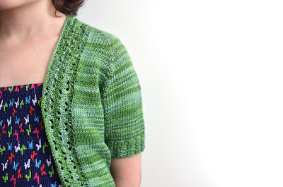 School's out girls' summer cardigan knitting pattern from Katya Frankel