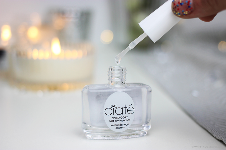 Ciate Speed Coat, Fast Drying top coat, nail polish, ciate, my pale skin, review, nail polish review,