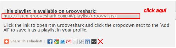 Exportar listas de Spotify a Grooveshark