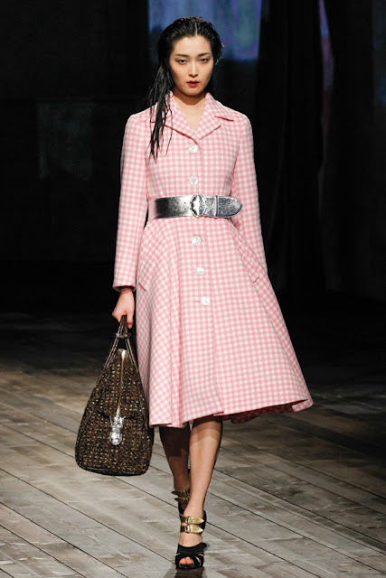 Prada A/W 2013 pink checks