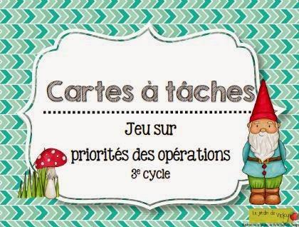 La classe de karine les priorit s des op rations for Jardin de vicky