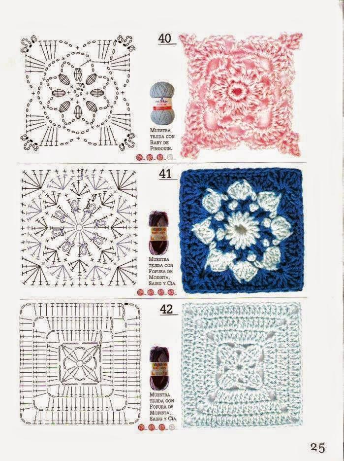 Perfecto Patrón De Crochet Cuadrado Festooning - Manta de Tejer ...