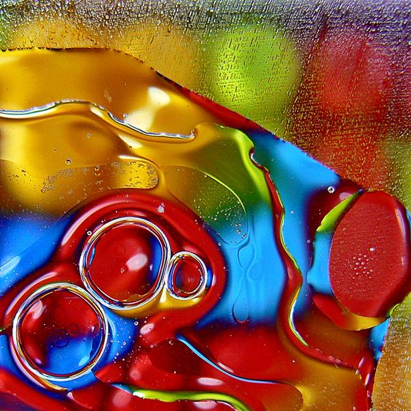 fotografia de bolhas de azeite e água, oil and water boblles photos
