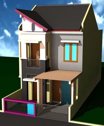 Desain Rumah Minimalis 2 Lantai Type 21/60