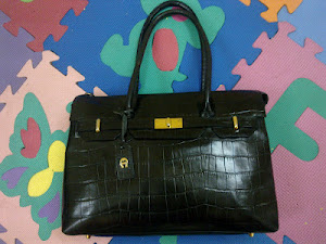 Aigner Black Leather Tote Bag(SOLD)