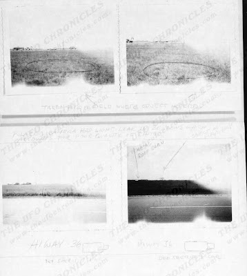 Photos UFO Incident Damon, Texas  Sept. 1965