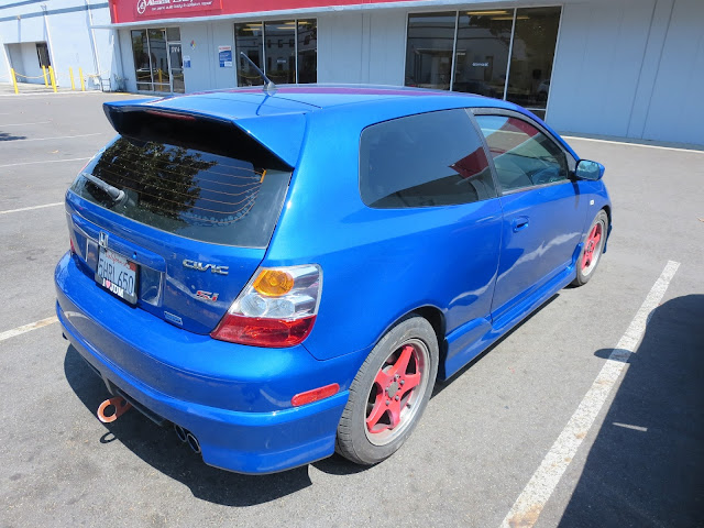 Civic after peeling paint and key scratches repaired at Almost Everything Auto Body