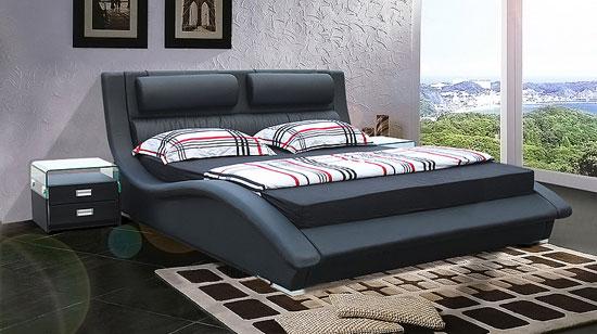 art d co les meilleurs lit en cuir de chez tacaza. Black Bedroom Furniture Sets. Home Design Ideas