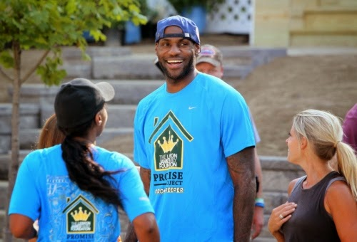 Lebron James helping residents in Akron