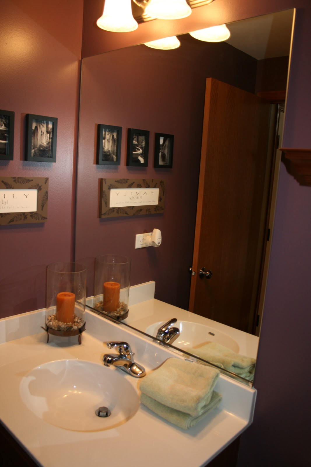 Purple Powder Room Small