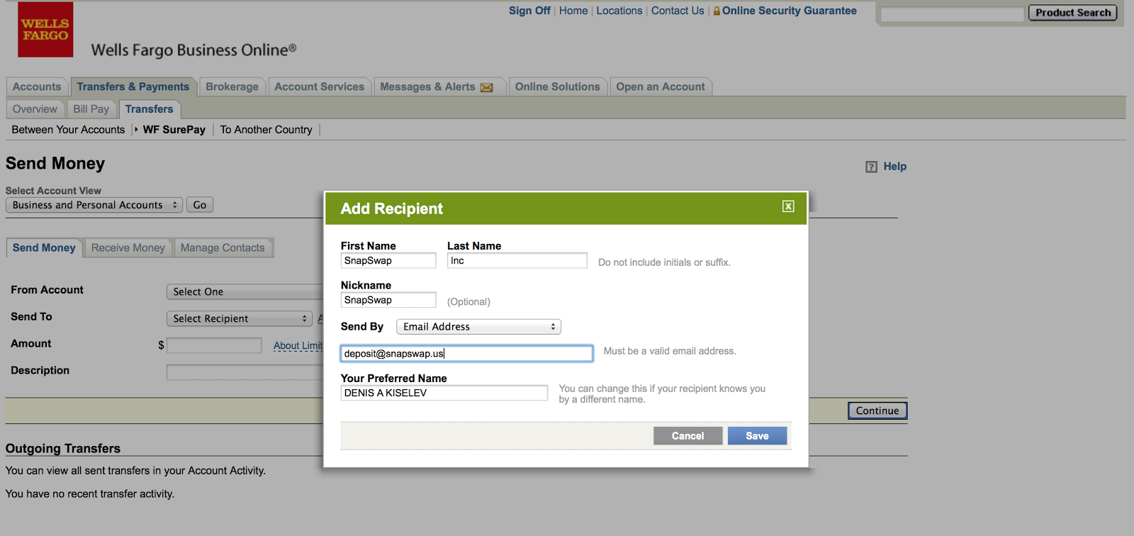 How to deposit money to our email address email for deposits ...
