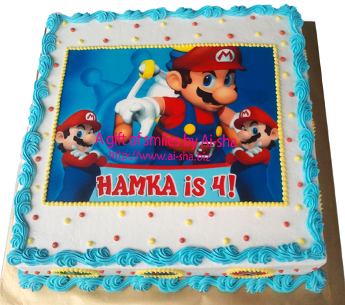 Birthday Cake Edible Image Super Mario Ai-sha Puchong Jaya