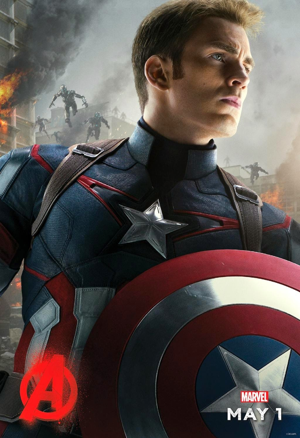 Marvel's Avengers Age of Ultron Character Movie Poster Set - Chris Evans as Captain America