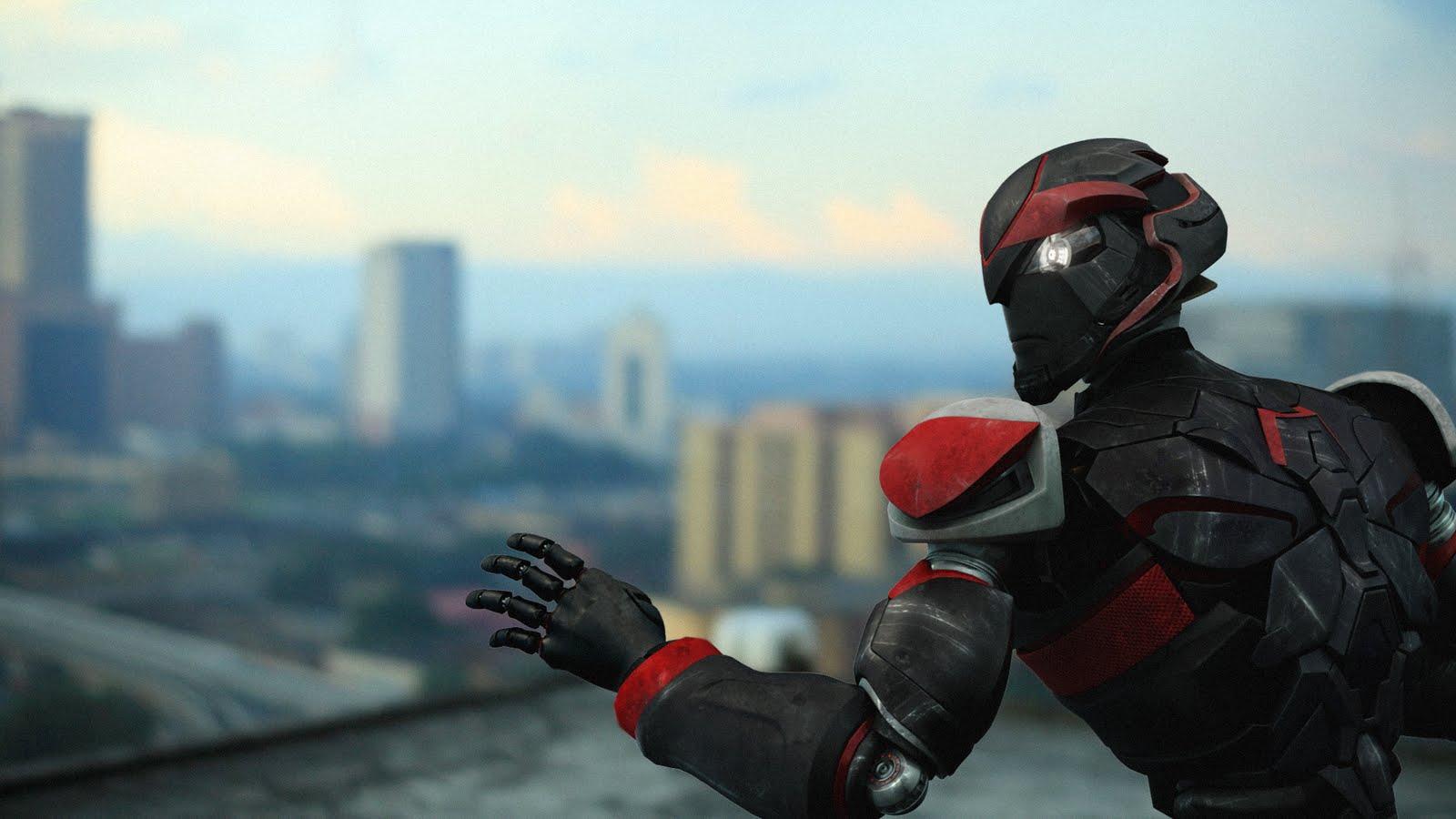 Vektor 58 Drama Aksi Robot Karya Anak Tempatan