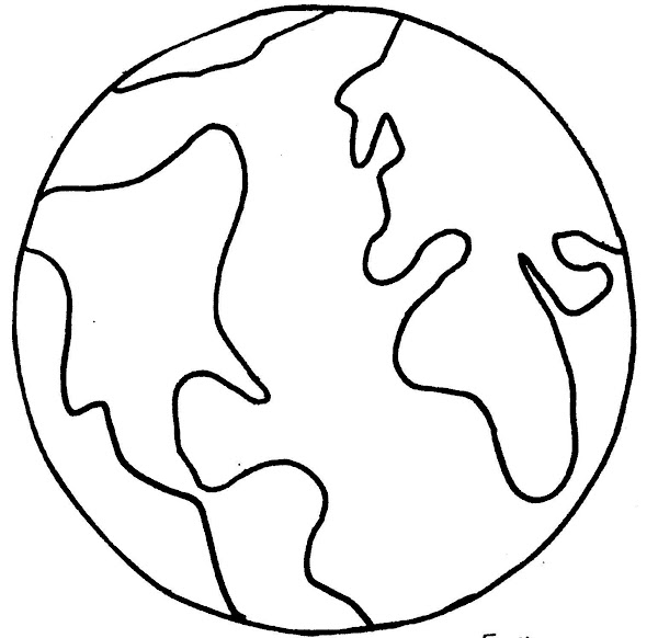 Coloring Page Of The World Globe
