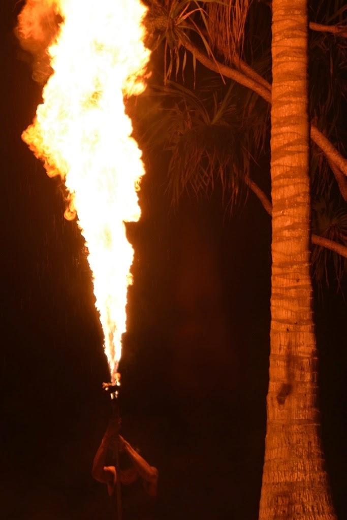 Bimi Beach Club Barbecue Phuket flames