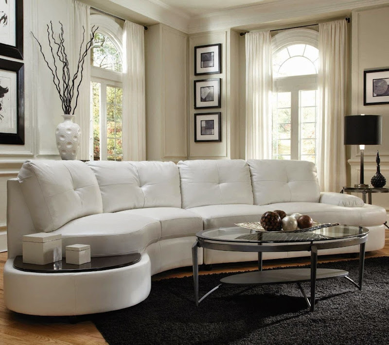 Sectional Sofa with Built in Table