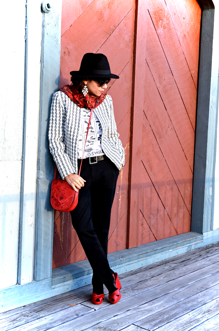Houndstooth Jacket Outfit