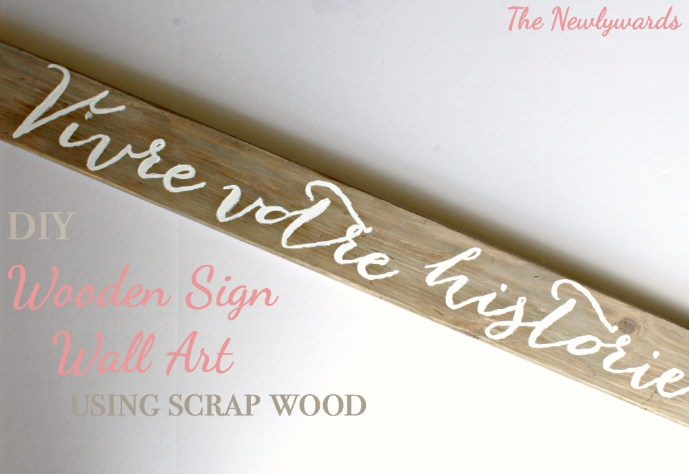 DIY Wooden Sign Art - Create your own sign using scrap wood and special paint techniques to achieve that old look. #DIY #CRAFTS #Sign