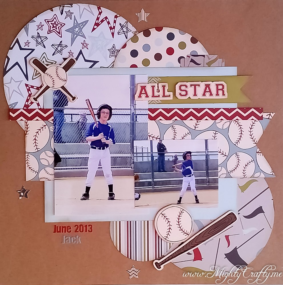 All Star layout for Sketch N Scrap sketch #65 -- www.MightyCrafty.me